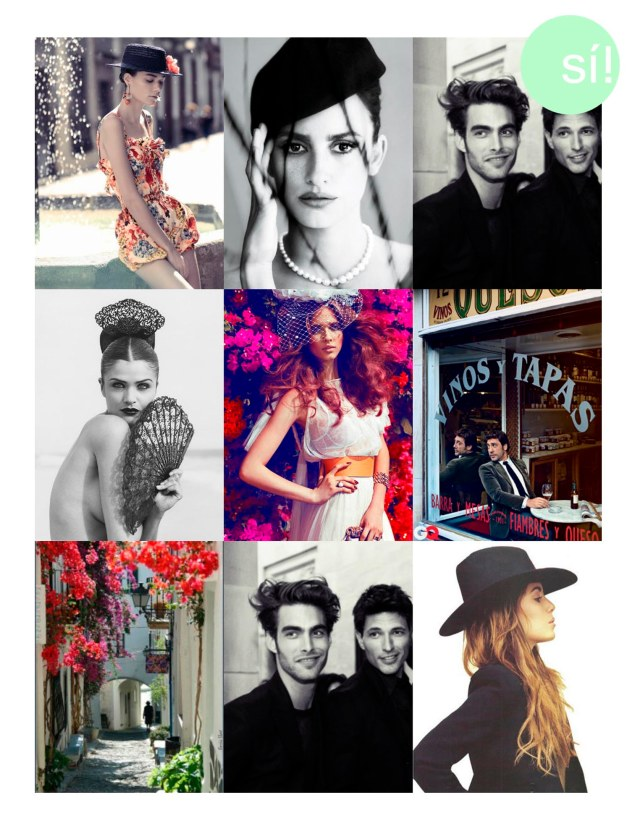 1. Desde dustjacketattic.blogspotcom   2. Penélope Cruz  3. Jhon Kortajarena   4. Helena Christensen, Photo by Herbert Herb Ritts  5.  Beegee Margenyte by Hunter & Gatti for Vogue Spain Brides   6. Javier Bardem desde whereisthecoolcom  7.   Desde loveitcom   8. Jhon kortajarena y Andrés Velencoso   9. Desde Pinterest