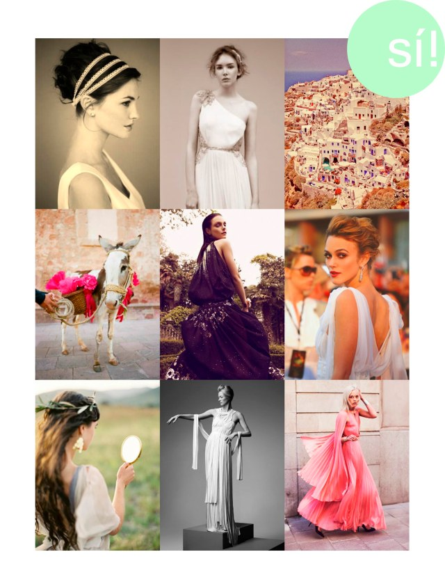 1. Desde huffley6.tumblr.com  2. Jenny Packman  3.Desde intimateweddings.com   4. Desde lacedinweddings.tumblr.com   5. Jessica Stam by Koray Birand for Greek Vogue june 2012    6. Keira Knightley  7. Desde oncewed.com  8. Tilda Swinton in S.Kokosalaki. Elle Italia by Jean-Baptiste Mondino  9. Richard Nicoll Dress, Lindex cuffs, and Christian Louboutin heels.