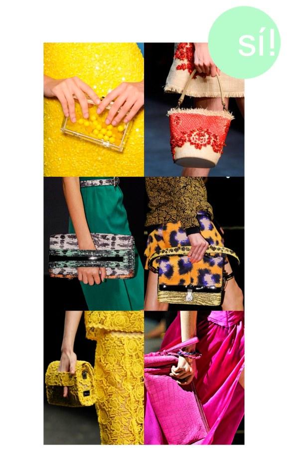 1. Alice+Olivia, 2. Dolce&Gabbana, 3. Kenzo, 4. Kenzo, 5. Blumarine, 6. Salvatore Ferragamo