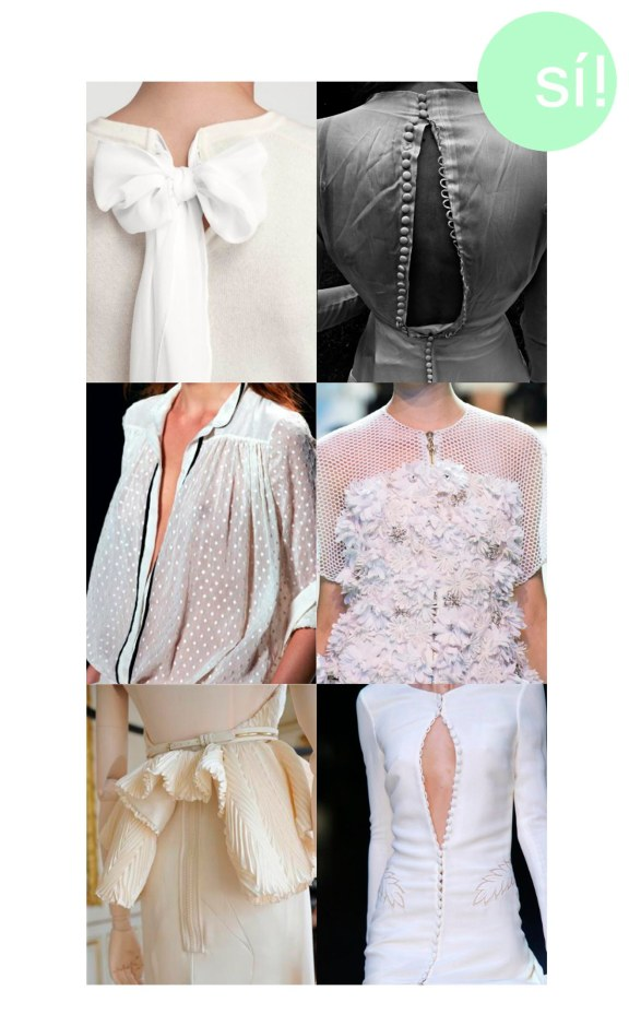1. Desde design-d-interieur.tumblr.com, 2. bohemea.tumblr.com, 3. Chloe, 4.Images.vogue.it 5. Givenchy, 6. Alexander McQueen