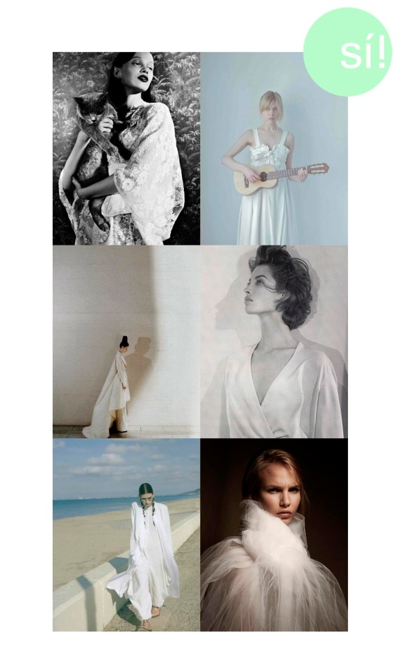 1. Ranya Mordanova photographed by Esperanza Moya for Tiger Magazine, 2. Clémence Poésy, 3. Suzie Bird, 4. Christy Turlington, 5. Encens Magazine, 6. Georgia Von Teuffel - Ryan Kalivretenos photography