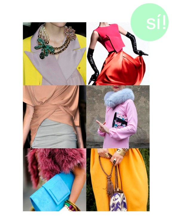 1. Louis Vuitton, 2. Vía imagebam.com, 3. Donna Karan, 4. Natalie Joos, 5. Vía Pinterest, 6. Opening Ceremony's Jenny Le