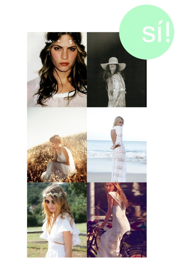 1. Vía Pinterest, 2. fashionmakesstatements.tumblr.com, 3. chanelwouldlovethis.tumblr.com, 4. nightcapdreaming.tumblr.com, 5. Vía Pinterest, 6. freepeople.com