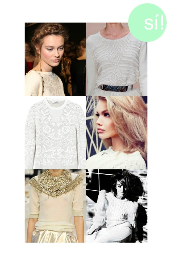1. Vía Pinterest, 2. Sass & Bide, 3. Valentino, 4. fortheloveofvictoryrolls.tumblr.com, 5. Chanel, 6.V Magazine