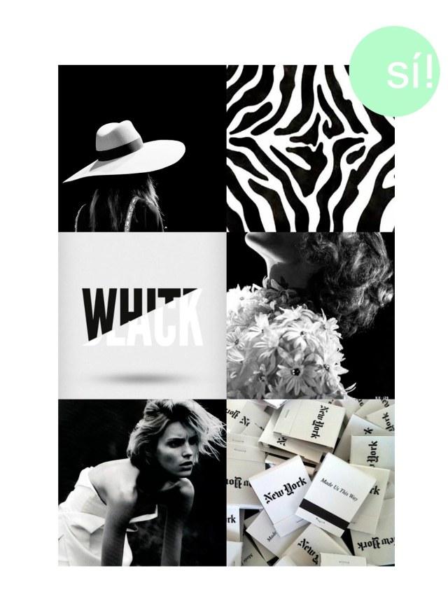 1. YSL 2 y 3. Vía Pinterest 4. Katherine Hepburn 5. Anja Rubik by Josh Olins 6. Vía Pinterest