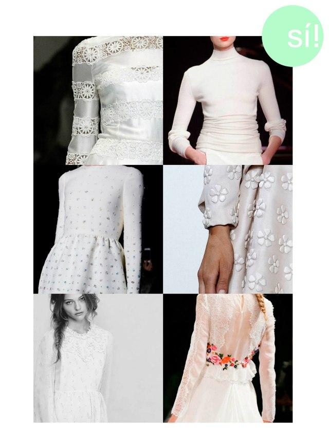 1. Dolce & Gabbana 2. Nina Ricci 3. Valentino 4. Valentino 5. Pinterest 6. Alberta Ferretti
