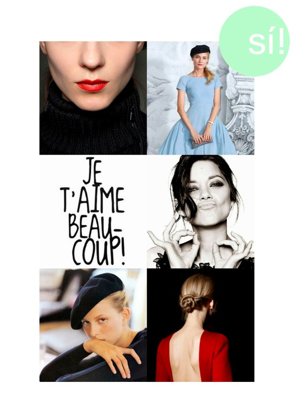 1. beautyhigh.com, 2. Diane Kruger, 3. tierlantijn.net, 4. Marion Cotillard, 5.  anastasiac.blogspot.com.au, 6. vía pinterest