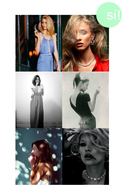 1. causeweareyoung.tumblr.com, 2. Vogue fr, 3. Dree Hemingway in Jil Sander, 4. Lillian Bassman, 5. secretlyw-h-i-s-p-e-r.tumblr.com, 6. Kate Moss