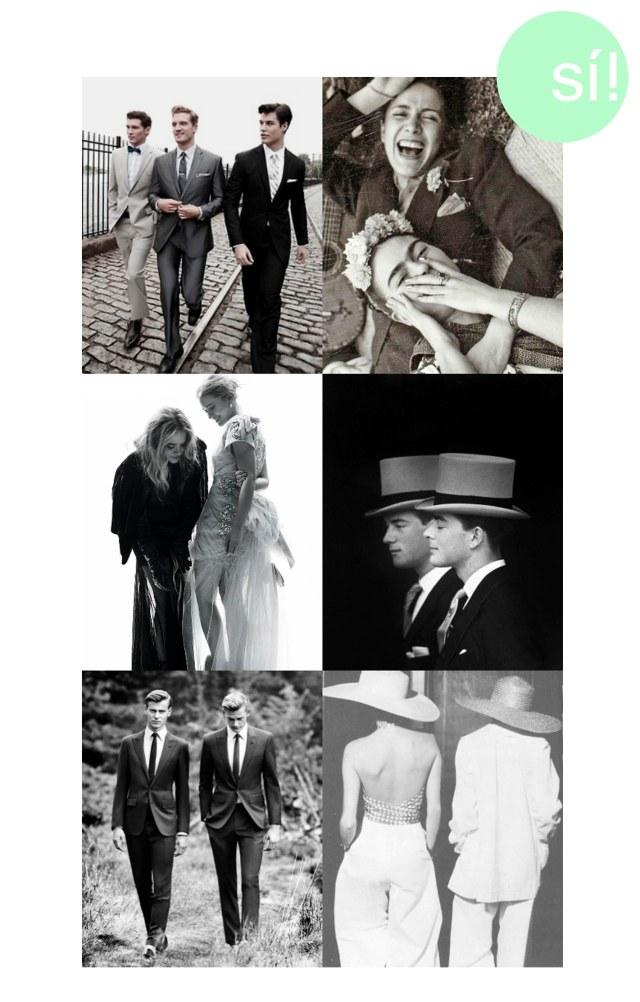 1. stylelover.tumblr.com 2. Frida Kahlo 3. hermanas Olsen 4. Antony Armstrong-Jones 5. by Boo George 6. YSL
