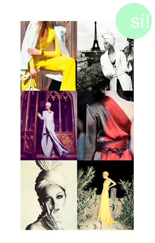 1. PInterest, 2. Harpers Bazaar China, 3. Pinterest, 4. Etro, 5. Vogue, 6. Grazia Spain