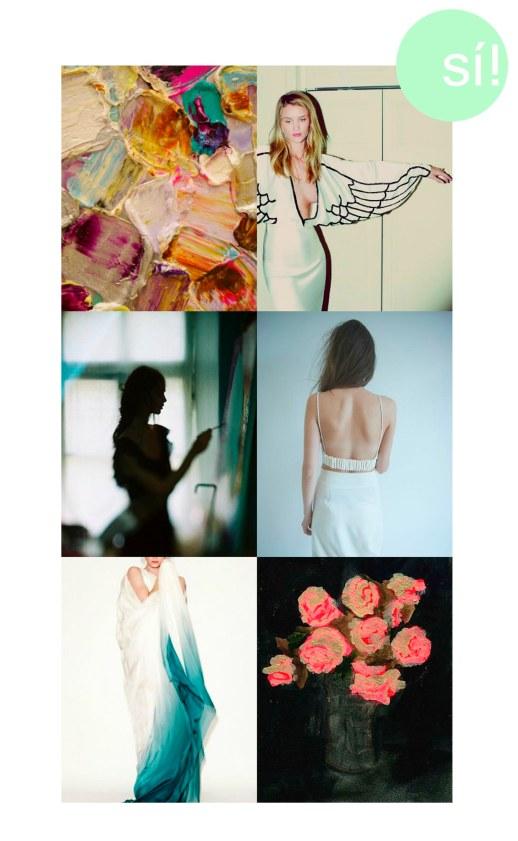 1. Pinterest, 2. Rosie Huntington-Whiteley by Guy Aroch, 3. fashionserved.com, 4., 5. y 6. pinterest