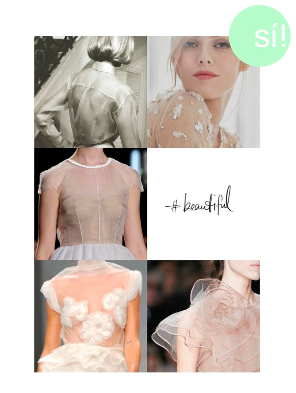 1. Christian Dior, 2. Chanel, 3. Honor, 4. zsazsabellagio.tumbl.com, 5. Ermanno Scervino, 6. Valentino
