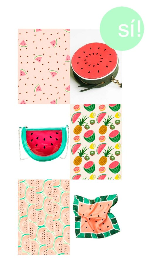 1. Pinterest, 2. Fruity Coin Purses by LaLisette, 3. www.romwe.com, 4 y 5.  Pinterest, 6. nickelcobalt.tumblr.com
