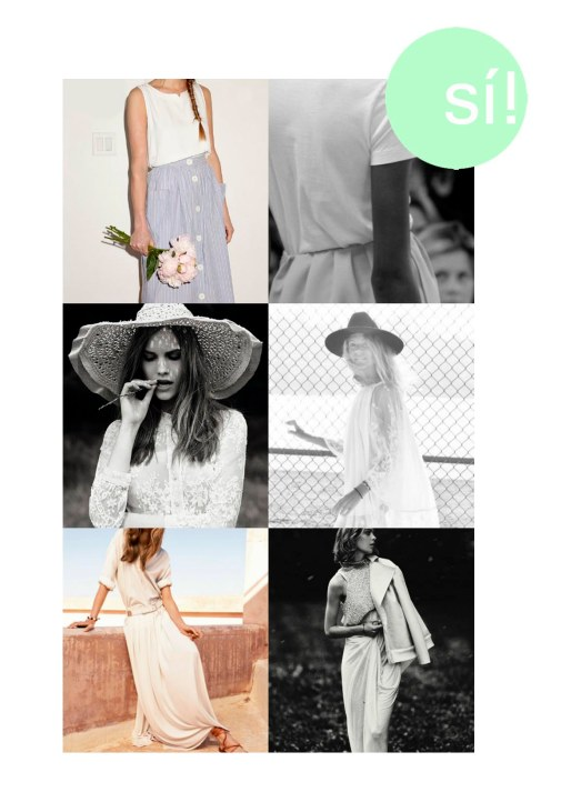 1 y  2. Pinterest, 3. Giambattista Valli, 4. Pinterest, 5. Anna Selezneva for Mango, 6. Kim Noorda for Elle