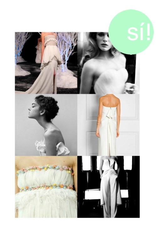 1. Pinterest, 2. Edita Vilkeviciute by Mario Testino, 3. Pinterest, 4. Roland Mouret, 5. Chanel, 6. Vogue UK