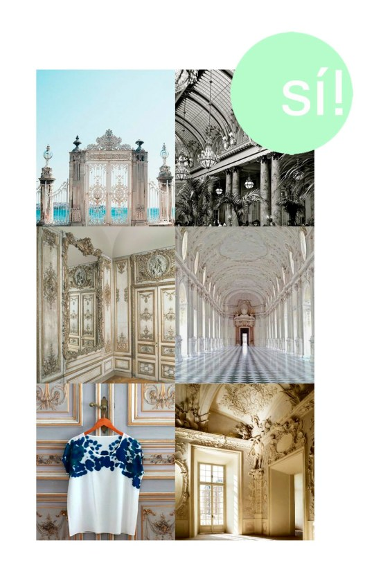 1. Dolmabahce Palace, 2. Palace Hotel, S.F., 3. christies.com, 4. Palace of Venaria, 5. Pinterest, 6. Reggia di Venaria Reale
